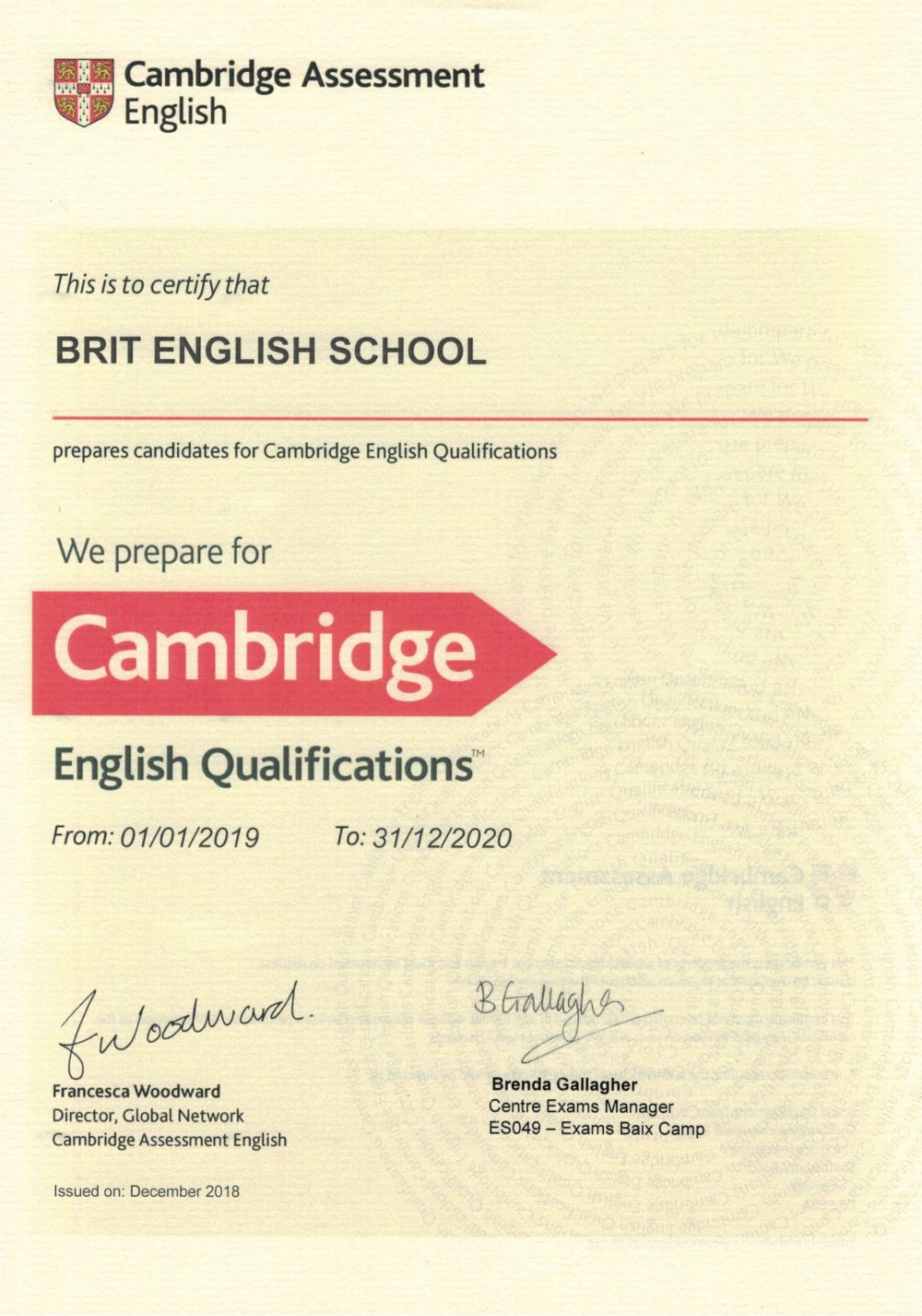 CERTIFICADO-CAMBRIDGE-BRIT-ENGLISH-SCHOOL