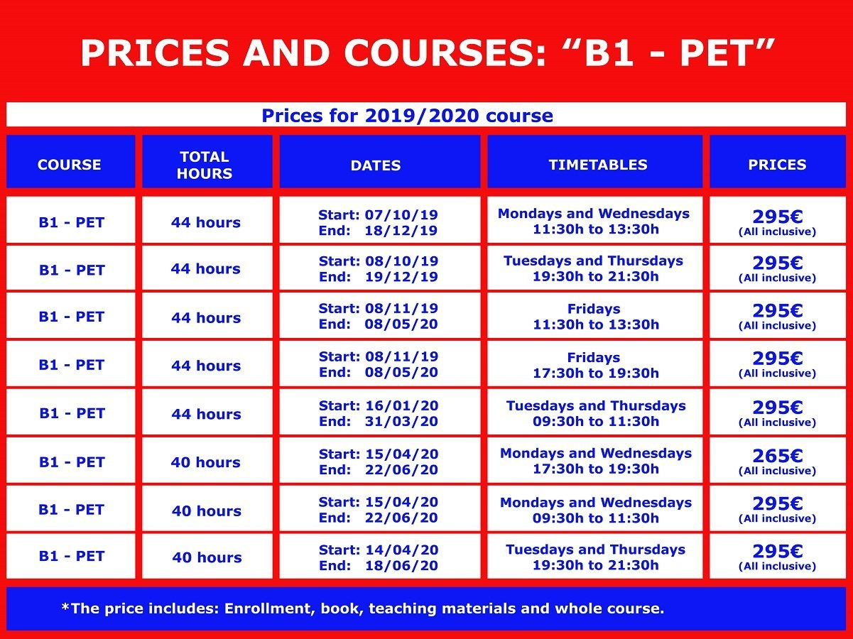 ENGLISH-B1-PET-ENGLISH COURSES